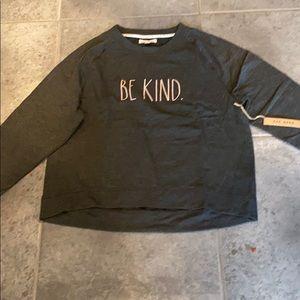 Rae dunn grey be kind sweatshirt pink letters